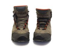 Old hiking boots Stock Photo