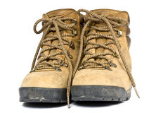 Old Hiking Boots Royalty Free Stock Photography