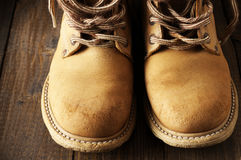 Old hiking boots Royalty Free Stock Photos