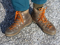 Old hiking boots Stock Photos