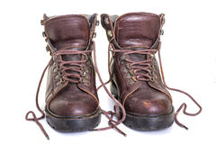 Old Hiking Boots Royalty Free Stock Image