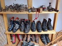 Old hiking equipment Stock Photo