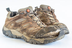 Old Hiking Shoes Royalty Free Stock Image