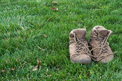 Old hiking shoes Royalty Free Stock Photography