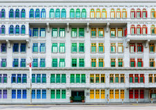 Old Hill Street Police Station in Singapore. Old Hill Street Police Station historic building in Singapore. Neo-classical style building with colorful windows royalty free stock photo