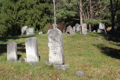 Old hillside rural cemetery Stock Photography