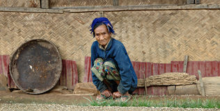 Old Hilltribe Lady Stock Images