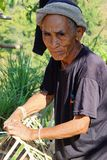 Old hilltribe man near Chiang Mai Thiland Stock Photos