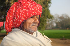 Old Hindu gentleman, Rajasthan, India Stock Photos