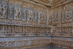 Old Hindu Sas-Bahu Temple in Rajasthan, near Udaipur, India. Stock Photography