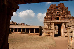 Old hindu temple. View on a old hindu temple in Hampi royalty free stock images