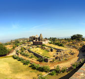 Old hinduism temple in kumbhalgarh fort Royalty Free Stock Image