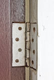 Old hinges door Royalty Free Stock Image