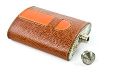 Old Hip flask Royalty Free Stock Photography