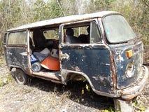 Old hippie volkswagen car Stock Image