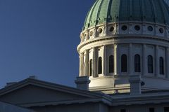 Old Historic Architecture Capitol Courthouse Building Round Dome Roof stock image