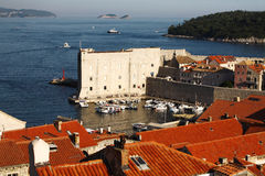 Old historic architecture of the town of Dubrovnik in Croatia Royalty Free Stock Images