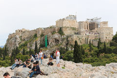 Old Historic Athens. At sunny spring day in downtown Athens, Greece stock photography