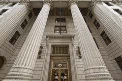Old Historic Bank Building. In City Downtown Royalty Free Stock Image
