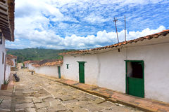 Old Historic Barichara, Colombia. Old colonial architecture in Barichara, Colombia royalty free stock photos