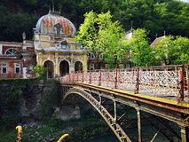 Old historic baroque building -  Imperial austiac baths Herculane royalty free stock photos