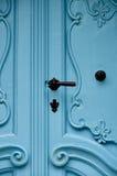 Old historic blue door Stock Photos