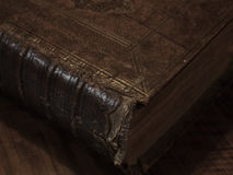 Old historic book. Very old bible with a leather back Stock Photos