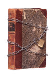 Old historic book protected with padlock and chain Stock Images