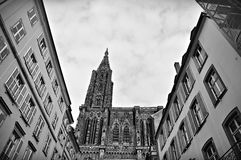 Old historic building. Old cathedral in the city center Royalty Free Stock Image