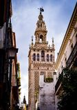 Old historic building in center of Seville, Spain Stock Image