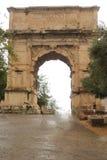 Rome, Italy - September 1,2017: Beautiful Septimius severus arch historic building inside Colosseum stock photos