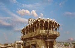 Old historic building in Jaisalmer stock photo