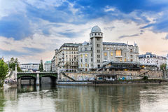 Old historic building with observatory at the riverside of the d Royalty Free Stock Photography