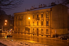 Old historic building in old town. The building contains booksho Royalty Free Stock Photography