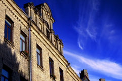 Old Historic Building. One old building in the old town in Vilnius. Sunny and cloudy beautiful day Stock Photography