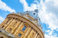 Old / historic building in Oxford, England. View looking upwards of a college building in Oxford university england Royalty Free Stock Images