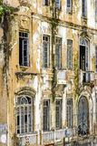 Old and historic building in ruins. In the center of the city of Salvador in Bahia Stock Photo