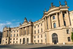 Old historic building at the Unter den Linden boulevard in Berlin. Old historic building seen at the Unter den Linden boulevard in Berlin, Germany Royalty Free Stock Image