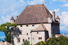 Old historic building. Yvoire castle. France Royalty Free Stock Photography