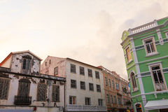 Old historic buildings in Azores Islands Royalty Free Stock Photo