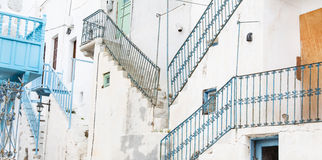 Old historic buildings on the Cyclades in Greece. Stock Image