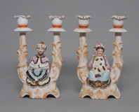 Old historic candlesticks Stock Images
