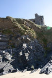 Old historic castle on a cliff edge Royalty Free Stock Images