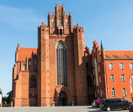 The old, historic Cathedral Basilica in Pelplin in Poland Royalty Free Stock Image
