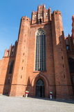 The old, historic Cathedral Basilica in Pelplin in Poland Stock Photo