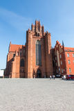 The old, historic Cathedral Basilica in Pelplin in Poland Stock Image