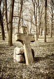Old historic cemetery cross Stock Photography