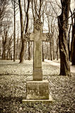 Old historic cemetery cross Royalty Free Stock Photography