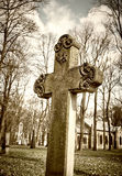 Old historic cemetery cross Stock Photo