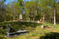 Old Historic cemetery with crosses stock image